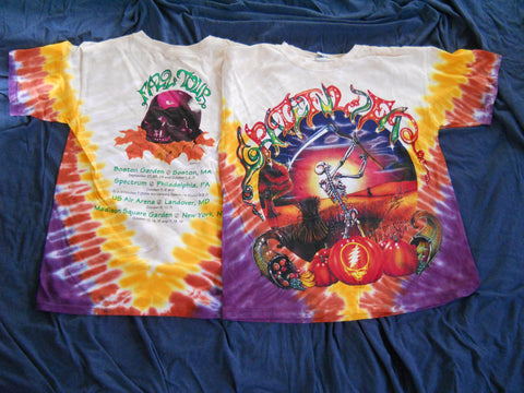 Grateful Dead Harvestor Fall Tour Tie Dye T-Shirt