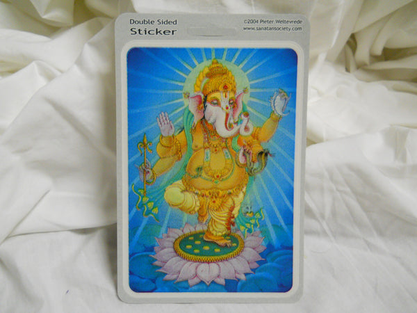 Ganesha Lotus Sticker
