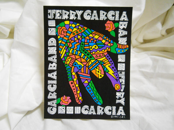 Jerry Garcia Band Hand Sticker