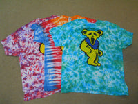 Scream Dancing Bear Tie-dye T-shirt
