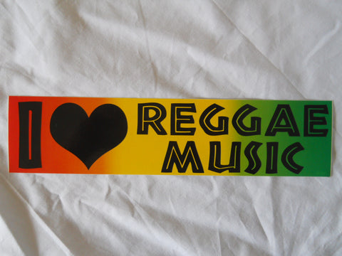 I Heart Reggae Music Sticker