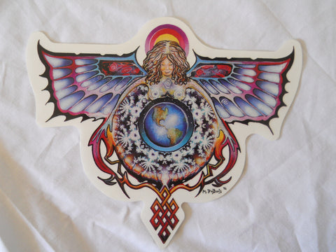 Angel Knot World Sticker