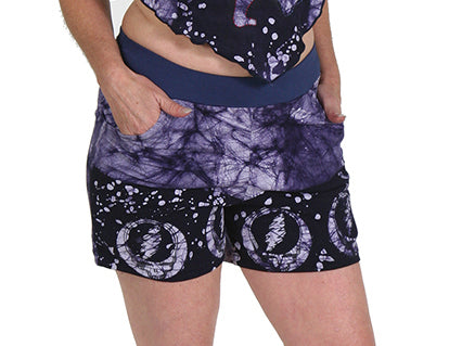 Womens Grateful Dead Suzy Batik Pocket Shorts