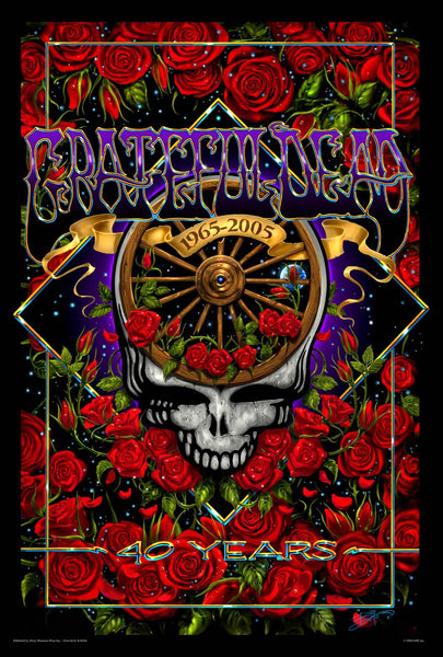 Grateful Dead 40th Anniversary Poster