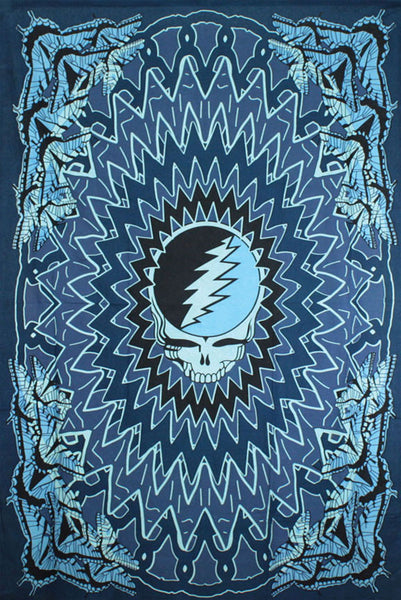 Grateful Dead Steal Your Face Butterfly Tapestry