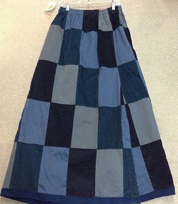 Corduroy Patchwork Skirt