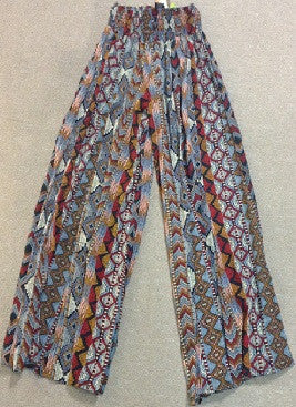 Wide Legged Tie Dye Flare Pants