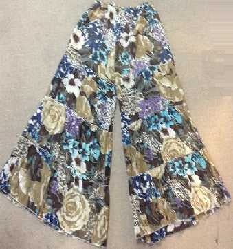 Floral Tier Wide Legged Pants