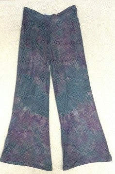 Dark Tie Dye Wide Legged Pants