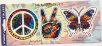 Peace, Peace, Butterfly Tie Dye Sticker