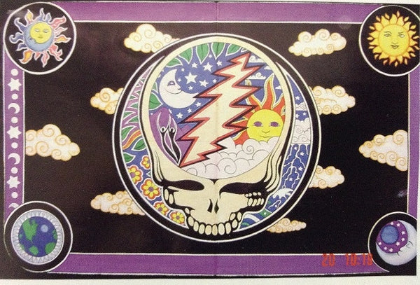Steal Your Face Day and Night Tapestry