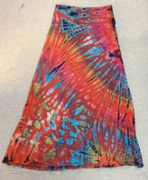 Full Length Tie Dye Skirt