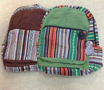 Tribal Trim and Pocket Backpack