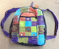 Peace, Om, and Spirals Patchwork Backpack