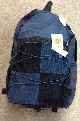 Corduroy Patchwork Bungee Drawstring Backpack