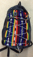 Rainbow and Tribal Striped Bungee Drawstring Backpack