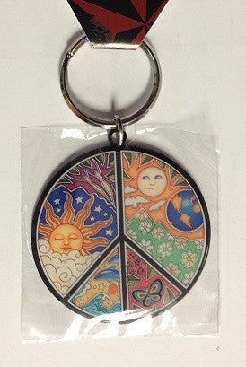 Peace Sign Metal Key Chain