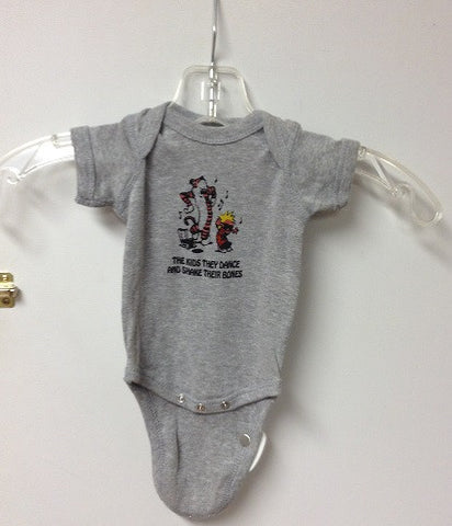 Calvin and Hobbes Shake Their Bones Onesie