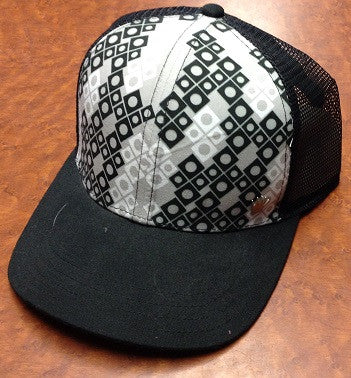 Squares and Circles Mesh Snap Back Hat