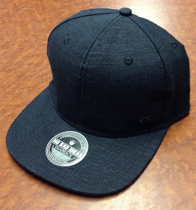 Black Hemp Snap Back Hat