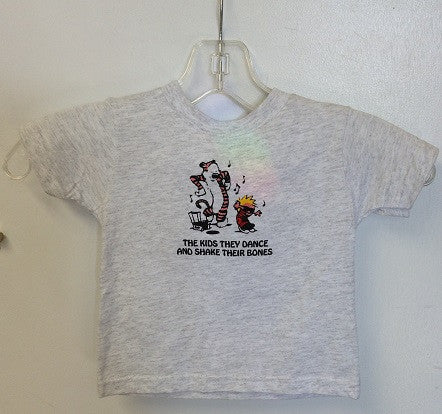 Calvin and Hobbes Shake Their Bones Toddler T Shirt
