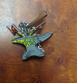 Lotus Hammer Strike Hat Pin