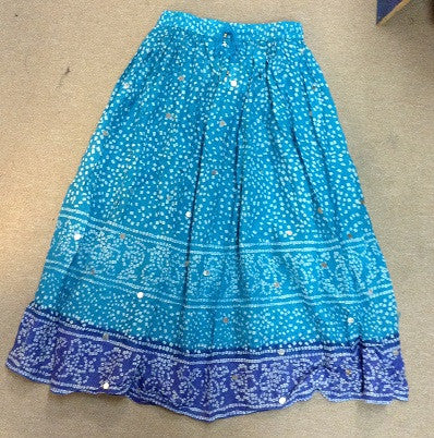 Blue Two Tone Sequence Skirt