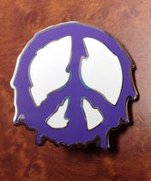 Melting Purple Preace Sign Hat Pin