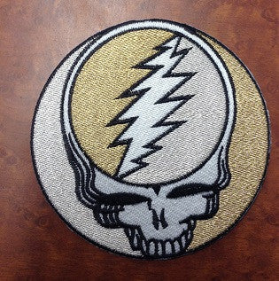 Gold and Silver Large Steal Your Face Patch