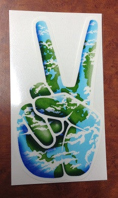 Earth Peace Hand Sticker