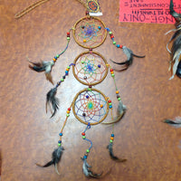 Triple Circle Rainbow Net Dream Catcher