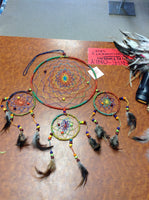 Two Tier Large Rainbow Dream Catcher