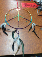 Rainbow Peace Sign Dream Catcher