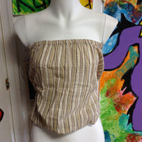 Womens Cotton Striped Tube Top