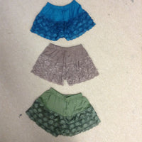 Womens Spandex and Lace Hot Shorts