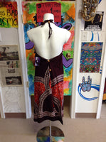 Womens Rayon Batik Mid Length Dress