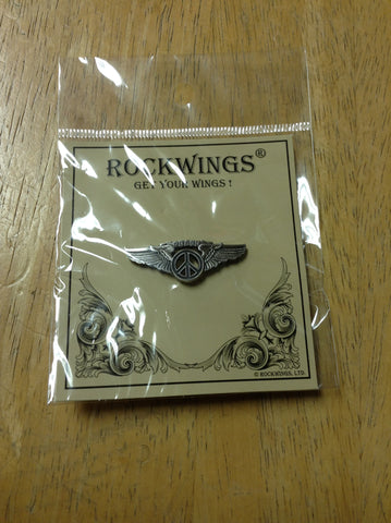 Black Peace Wings Hat Pin