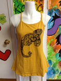 Elephant Trunk Love Organic Womens Tops