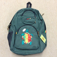 Rasta Turtle Patch with Shooting Star Denim Backpack