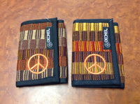 Peace Patch Hand Brocaded Three Fold Wallet