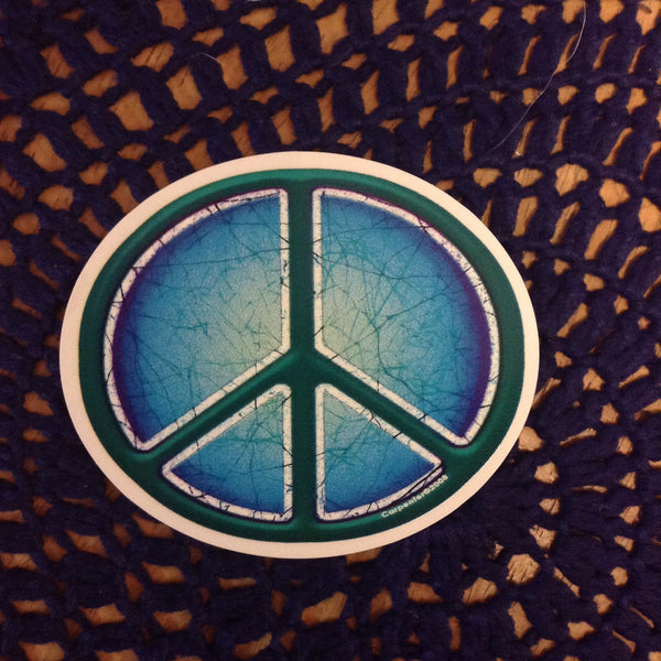 Batik Peace Sign Sticker