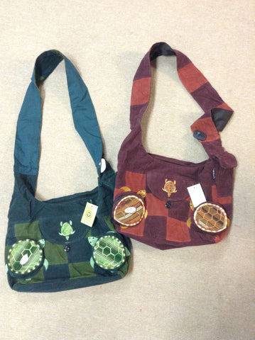 Terrapins Embroidered Corduroy Saddle Bag