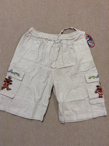 Grateful Dead Bear Cargo Shorts