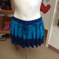 Women's Layered Tie Dye Spandex Skirt