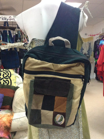 SYF Corduroy One Strap Backpack