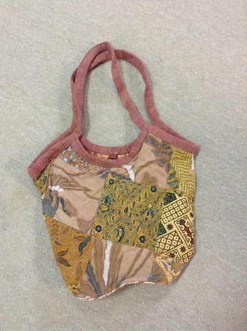 Recycled Sari Patchwork Bucket Bag