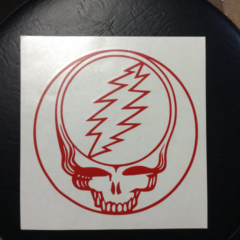 Steal Your Face Large Rub On Sticker