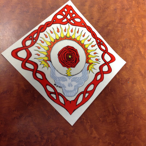 Steal Your Face Fire Rose Sticker