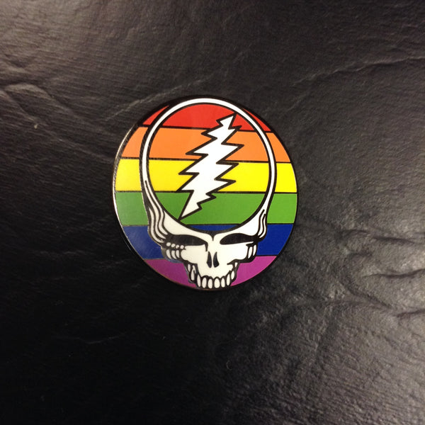 Grateful Dead Steal Your Rainbow Hat Pin