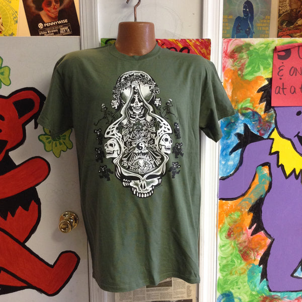 Jerry Aiko Double Skulls Solid T Shirt